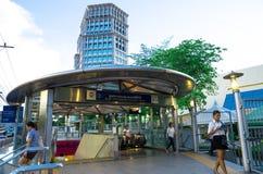 Bangkok, Thailand : The way up into metro station Stock Photos
