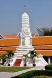 Bangkok, Thailand: White Prang at Wat Mahathat Stock Photo
