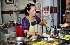 Bangkok, Thailand: Woman Cooking Food Royalty Free Stock Photo