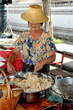 Bangkok, Thailand: Woman Popping Corn Stock Photography
