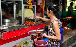Bangkok, Thailand: Woman at Restaurant Royalty Free Stock Photos