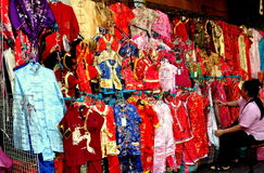 Bangkok, Thailand: Woman Selling Chinese Clothing Stock Image