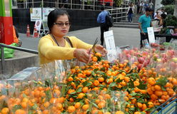 Bangkok, Thailand: Woman Selling Oranges Stock Images