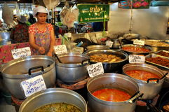 Bangkok, Thailand: Woman Selling Thai Foods Royalty Free Stock Images