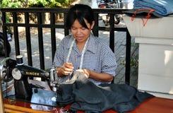 Bangkok, Thailand: Women with Sewing Machine Royalty Free Stock Photo