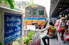 Bangkok, Thailand : Wongwian Yai train station Stock Photos