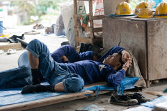 Bangkok, Thailand, Workers in a building site Stock Photography