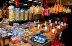 Bangkok, Thakland:  Dried Shrimp and Seafood at Chinatown Shop Stock Photos