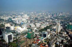 Bangkok, Thaland: Panoramic View of City Stock Photos