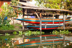 Bangkok thonburi klongs - canals view Stock Image