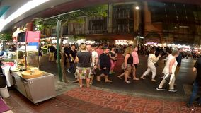Bankok street timeleaps, nightlife of the city. Bangkok timeleaps, the nightlife of the city full of tourists coming joyfully all over the world. Feb.12.2017 stock video footage