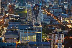 Bangkok from top night Royalty Free Stock Images