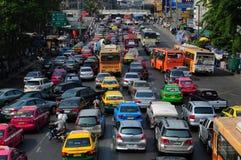 Bangkok traffic. Traffic congestion in downtown, Bangkok, Thailand Royalty Free Stock Photos