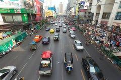 Bangkok traffic. BANGKOK - JANUARY 14. Business congested traffic on January 14, 2012 in Bangkok, Thailand. Even with improved public transport, traffic Stock Images