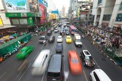 Bangkok Traffic. BANGKOK - JANUARY 14. Business congested traffic on January 14, 2012 in Bangkok, Thailand. Even with improved public transport, traffic Royalty Free Stock Photos