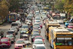 Bangkok Traffic. BANGKOK - JANUARY 14. Business congested traffic on January 14, 2012 in Bangkok, Thailand. Even with improved public transport, traffic Stock Photo