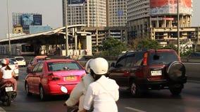 Bangkok traffic jam at rush hour stock footage