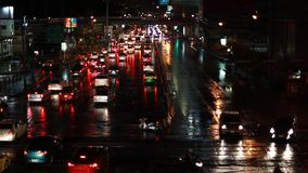 Bangkok Traffic At Night Royalty Free Stock Photo