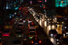 Bangkok traffic at night Stock Image