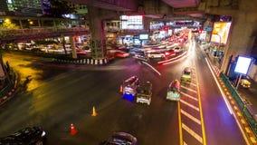 Bangkok traffic under bridge time lapse stock footage