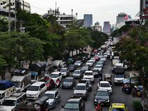 bangkok trafik Arkivfoton