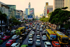 Bangkok trafik royaltyfria foton