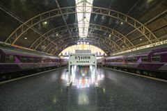 At The Bangkok train Station. Main station in Bangkok. every train start here go north south east west and north west stock photo