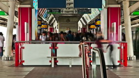 Bangkok Train Station Time Lapse. V1. Bangkok train station time lapse stock video