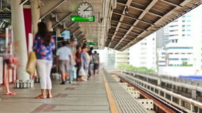 Bangkok Train Station Time Lapse. V2. Bangkok train station time lapse stock video