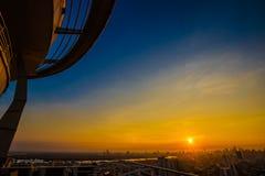 Bangkok transportation at sunset in Bangkok, Thailand stock images