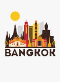 Bangkok travel background Royalty Free Stock Image