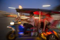 Bangkok Tuk-Tuk Taxi Night Blur Royalty Free Stock Photos