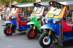 Bangkok tuk tuks Royalty Free Stock Photography