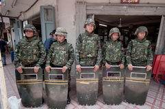 bangkok tumult thailand Arkivfoto