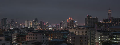 Bangkok twilight panorama Royalty Free Stock Photos