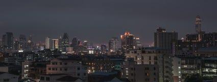 Bangkok twilight panorama Royalty Free Stock Photos