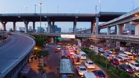Bangkok twilight scene stock video footage