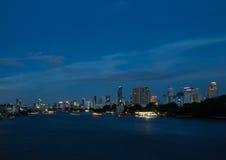 Bangkok in the twilight. Stock Photo