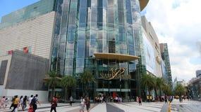 Bangkok upp-skala shoppinggalleria Siam Paragon arkivfoto