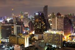 Bangkok van de binnenstad nightscape Royalty-vrije Stock Fotografie