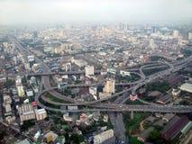 Bangkok van hoogte van de vogel\ \ \ 's vlucht. Stock Foto