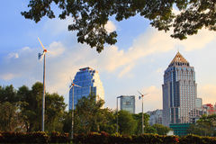 Bangkok veiw point from lunphini park Royalty Free Stock Photo