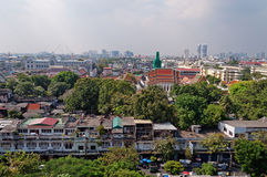 Bangkok view from Golden mountain Stock Image