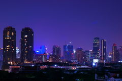 Bangkok View By Night. Bangkok commercial district night view, Thailand stock images
