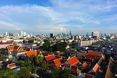 Bangkok view Old house Roof temple. Architecture Royalty Free Stock Images
