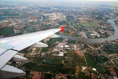 Bangkok view from plane Royalty Free Stock Image