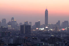 Bangkok view in twilight. Thailand Royalty Free Stock Photo