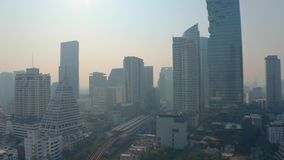 Bangkok-Vogelperspektive stock footage