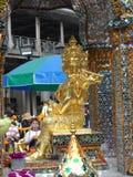 Bangkok vollzieht seine Wurzeln zu einer kleinen Handelsstation während des Ayutthaya-Königreiches im 15. Jahrhundert nach, das s lizenzfreies stockbild