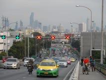 Bangkok vollzieht seine Wurzeln zu einer kleinen Handelsstation während des Ayutthaya-Königreiches im 15. Jahrhundert nach, das s lizenzfreies stockfoto
